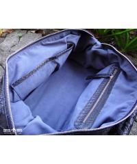 Дорожная сумка из кожи питона