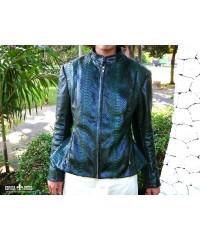 Куртка из натуральной кожи питона