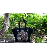 Большая сумка из кожи питона в стиле Celine