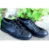 Мужские туфли из кожи питона
