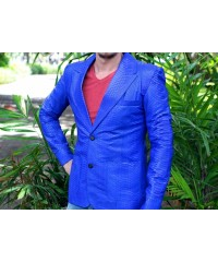 Мужской пиджак из натуральной кожи питона