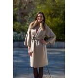 Кашемировое пальто с воротником из соболя
