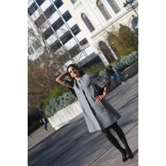 Кашемировое пальто с отделкой из свакары